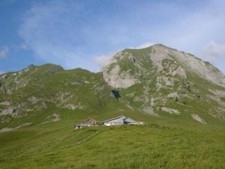 Notre alpage au pied du Mt Charvin